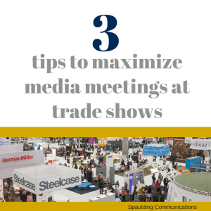 media meetings at trade shows